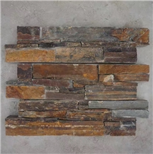 Stone Wall Cladding Natural Rusty Slate Stone