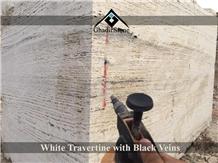 White Travertine Blocks Gs.008