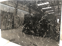 China Nero Black Rose Marble Big/Small Slabs Tiles