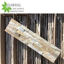 China Natural Yellow Slate Culture Stone