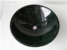 Green Marble Stone Wash Basins Round Bowls Sinks