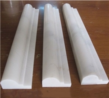 White Marble Border Line Marble Pencil Wall Panel