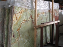 Pakistan Dark Green Onyx Slab and Tiles