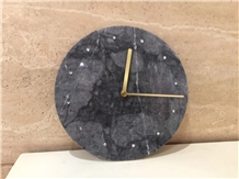 Cheap Marble Clock Wall for Home Decoration