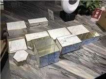 Modern Custom Design Marble Jewelry Box