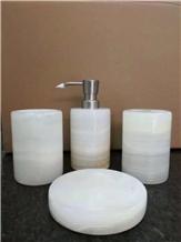 Shampoo Bottles Marble Bathroom Accessories Set
