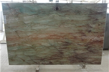 Gaya Green Bordeaux Quartzite Slabs Tiles, Gaya Dream Quartzite