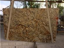 Revelation Gold Yellow Granite Slabs, Revelation Granite Slabs
