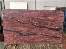 Revolution Wave Red Quartzite Slabs Tiles