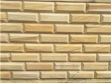 Teakwood Sandstone Wall Designs