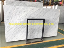 Bianco Carrara Venato Marble Tiles Slabs Polished