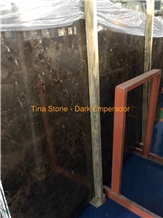 China Dark Emperador Polished Mable Stone Tile