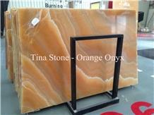 Orange Onyx Polished Hotel Wall Tiles Slabs