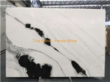 Panda White Marble Slabs China Stone Wall Floor