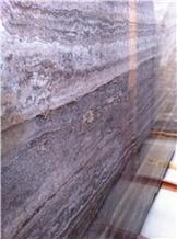 Silver Travertine Tile Slabs Stone Floor Polished