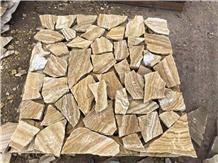 Wooden Veins Sandstone Irregular Shape Tiles