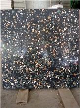 Indonesia Black Terrazzo Floor Tiles