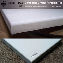 Super White Crystallized Stone Porcelain Tiles