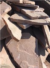 Red Sandstone Irregular Tiles