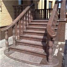 Granite Stair Railing Maple Red Stone