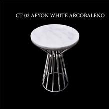 Afyon White Coffee Table
