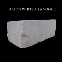 Afyon White Marble Blocks
