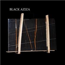 Black Aziza, Sahara Noir, Laurent Black Gold Slabs