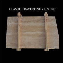 Classic Travertine Vein Cut Slabs