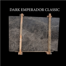 Dark Emperador Classic Turkish Beige Marble Slabs