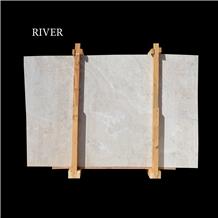 Light Silver Travertine Slabs