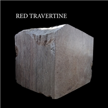 Red Travertine, Pink Travertine Blocks