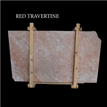 Red Travertine Slabs and Tiles, Pink Travertine