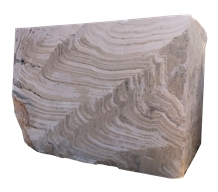 River, Silver Travertine Blocks