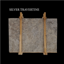 Silver Travertine Slabs