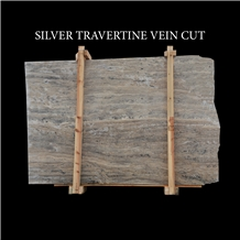 Silver Travertine Vein Cut Slabs