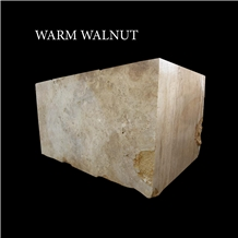 Warm Walnut Travertine Blocks