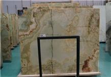 Green Onyx Slabs Flooring Wall Pattern Tiles