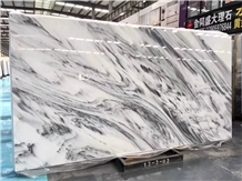 Ink Painting Marble,White Marble with Black Vein