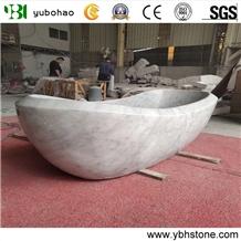 Bianco Carrara/White Marble Bath Tubs for Bathroom