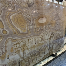 Natural Picasso Gold Quartzite Background Slab