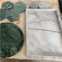 Natural White Marble Serving Tray Craft for Sale