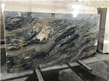 President Marble Slabs, Iran Black-Gold Marble