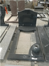 Blue Pearl Granite Tombstone,Headstone
