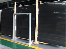 Chinese Natural Black Wooden Vein Marble Slab