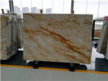 Polished Gold Marble Dubai Gold Slabs