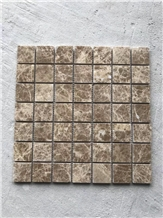 Popular Light Emperador Marble Mosaic
