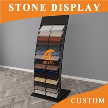 Quartz Stone Tiles Waterfall Display Metal Stand