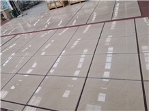 Pacific Cream Marble Slab Machine Cut to Size Floor Tiles Hotel,Villa Project Wall Cladding