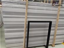 New Marmara White, Zebra White Marble Slab