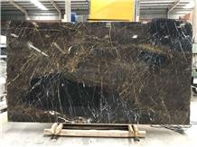 Black Golden Spider Marble